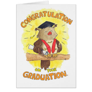 Congratulation on your graduation greeting card