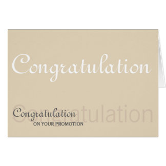 Congratulation on Your Promotion Typography Card