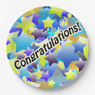 Congratulation Stars Paper Plate