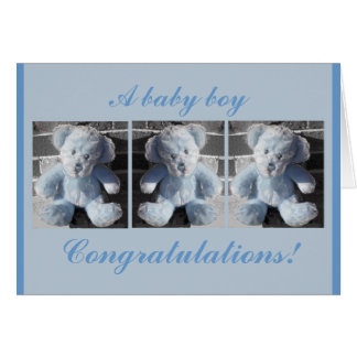 Congratulations!, A baby boy Greeting Cards