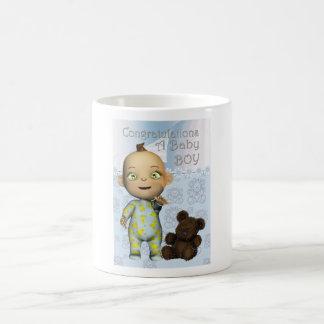 Congratulations a New Baby Boy Basic White Mug