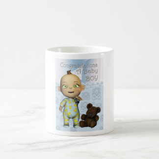 Congratulations a New Baby Boy Coffee Mug