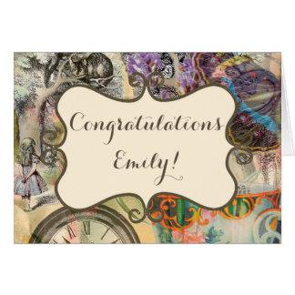 Congratulations Alice Cheshire Card Template