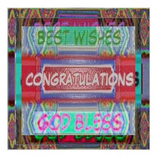 CONGRATULATIONS and best wishes Print