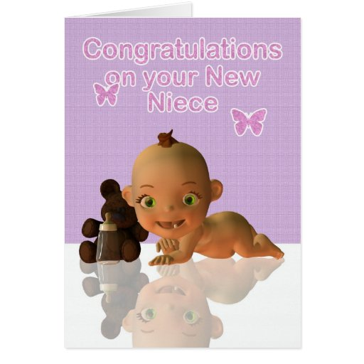 Congratulations Aunt and Uncle New baby Niece blan Greeting Card