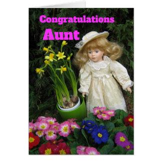 Congratulations Aunt Card
