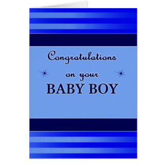 Congratulations Baby Boy Card