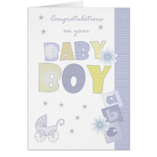 Congratulations Baby Boy Card, New Baby Card