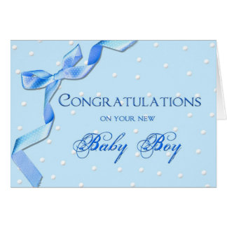 Congratulations - Baby Boy Greeting Card
