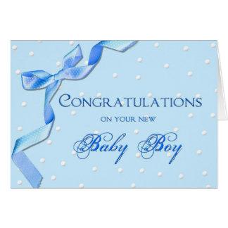 Congratulations - Baby Boy Greeting Card