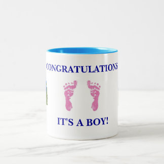 Congratulations Baby Boy Mug