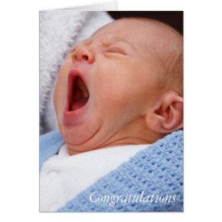 Congratulations baby boy/son card
