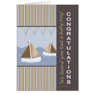 Congratulations Baby Sailor Greeting Card
