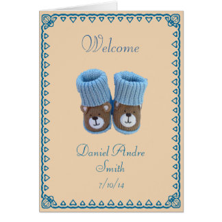 Congratulations! birth of baby boy card