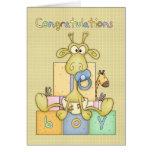 Congratulations Birth Of Baby Boy Card - Cute Baby