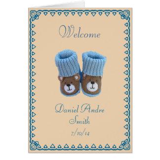 Congratulations! birth of baby boy greeting card