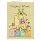 Congratulations Birth Of Baby Girl Card - Cute Bab