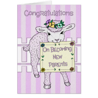 Congratulations Birth Of Baby Girl New Parents Card