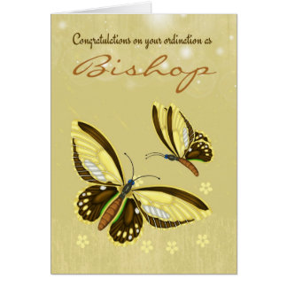 Congratulations Bishop Ordination With Butterflies Card