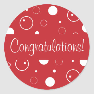Congratulations Bubbles Envelope Seal