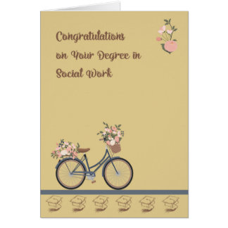Congratulations Card Degree in Social Work