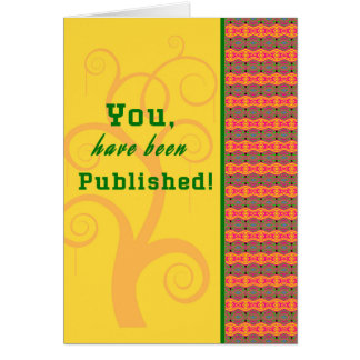 Congratulations Card for First Book Published
