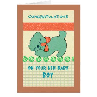 Congratulations Card for New Baby Boy
