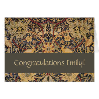 Congratulations Card William Morris Bullerswood