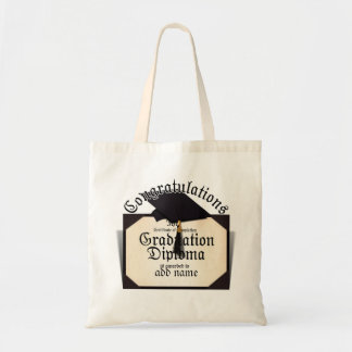 Congratulations! Certificate of Completion Diploma Tote Bag
