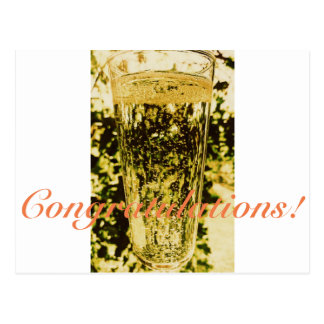Congratulations Champagne Glass Postcard