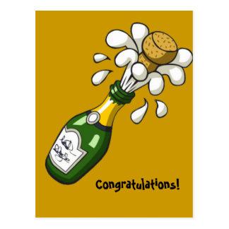 Congratulations Champagne Postcard