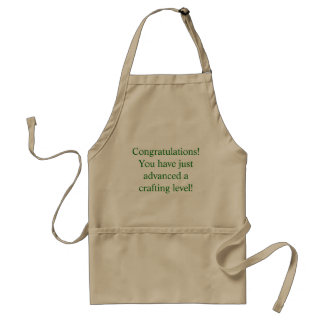 Congratulations Crafting Level Brown Apron