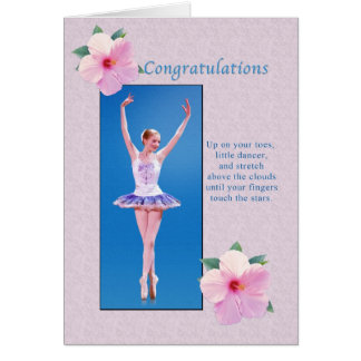 Congratulations, Dance Recital Card