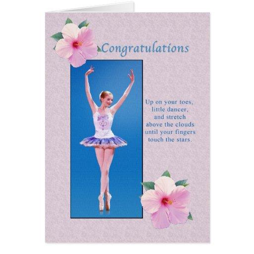 Congratulations, Dance Recital Greeting Card