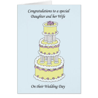 Congratulations Daughter and Wife on wedding day Card