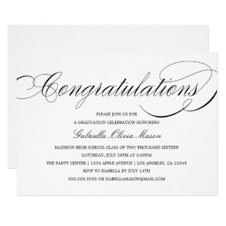 Congratulations Elegant Script | Party Invitation