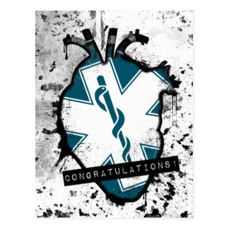 congratulations emergency medical services worker postcard