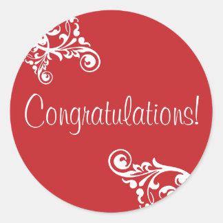 Congratulations Flourish Envelope Sticker Seal