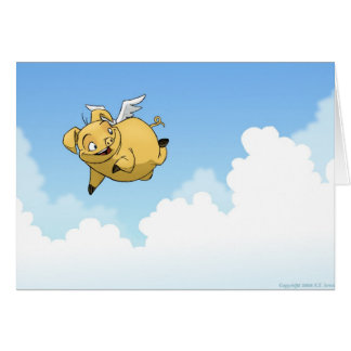 Congratulations! (Flying Pig) Card
