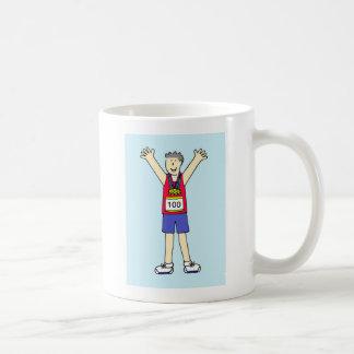Congratulations for a man on 100th Marathon. Coffee Mug