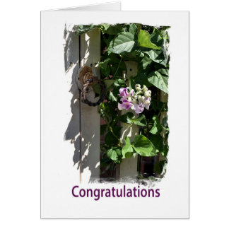 Congratulations - Gate with Flower Card