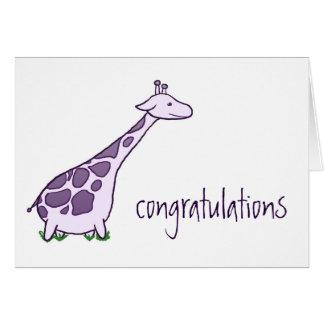 Congratulations Giraffe Greeting Card