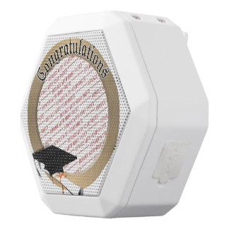 'Congratulations' Gold Graduation Photo Frame White Boombot Rex Bluetooth Speaker