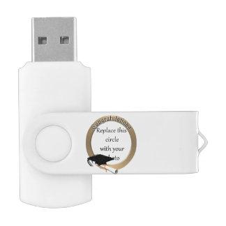 'Congratulations' Gold Graduation Photo Frame Swivel USB 2.0 Flash Drive