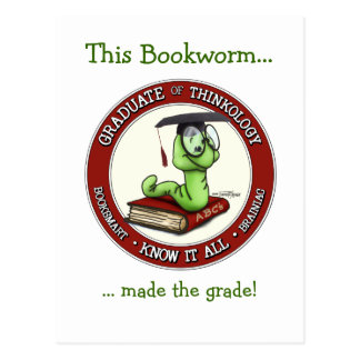Congratulations Grad - Bookworm Card