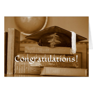 Congratulations Graduate Classic Books Card