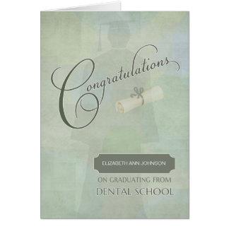 Congratulations Graduate Dental Degree with Name Card