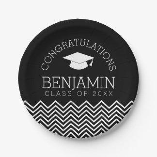Congratulations Graduate Graduation CAN EDIT COLOR Paper Plate