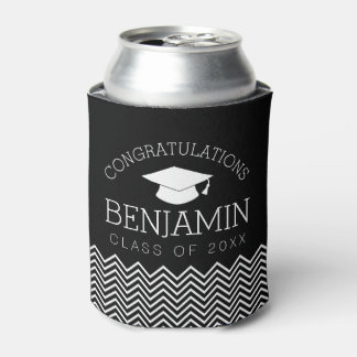 Congratulations Graduate Graduation Cap EDIT COLOR Can Cooler
