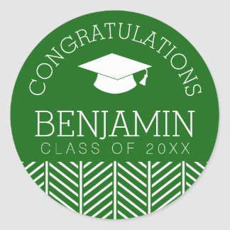Congratulations Graduate - Party CAN EDIT COLOR Classic Round Sticker